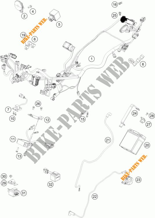 WIRING HARNESS for KTM 390 DUKE WHITE ABS 2014 # KTM