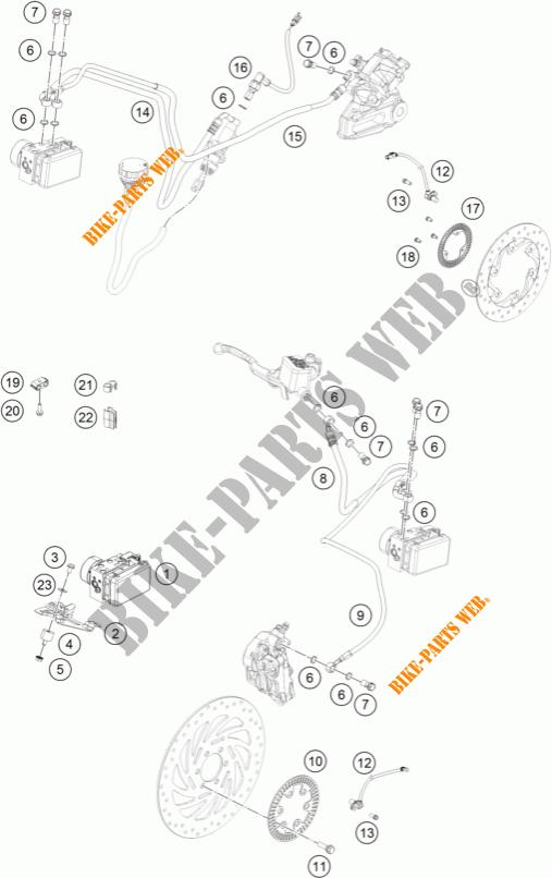 BRAKE ANTIBLOCK SYSTEM ABS for KTM 125 DUKE WHITE ABS 2013