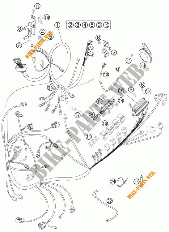 WIRING HARNESS for KTM 950 SUPER ENDURO R 2007 # KTM