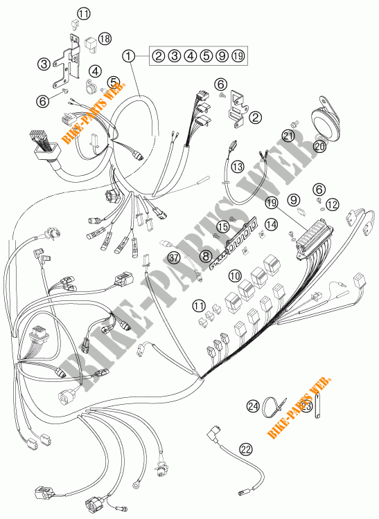 WIRING HARNESS for KTM 950 SUPER ENDURO R 2006 # KTM