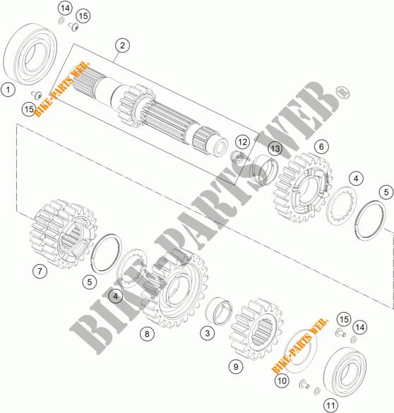 GEARBOX MAIN SHAFT for KTM 690 ENDURO R 2017 # KTM