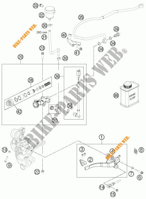 REAR BRAKE MASTER CYLINDER for KTM 690 ENDURO R 2012 # KTM