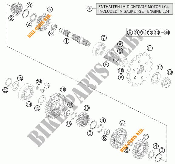GEARBOX COUNTERSHAFT for KTM 690 ENDURO R 2012 # KTM