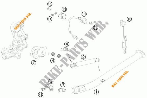 SIDE / MAIN STAND for KTM 690 ENDURO R 2012 # KTM