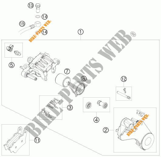 REAR BRAKE CALIPER for KTM 690 ENDURO R 2010 # KTM