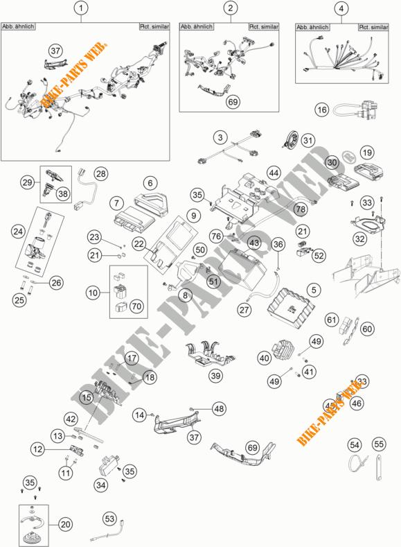 WIRING HARNESS for KTM 1290 SUPER ADVENTURE R 2017 # KTM
