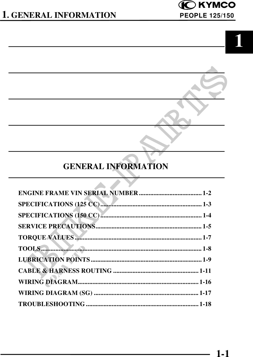 medium resolution of people 125 workshop manual page 1