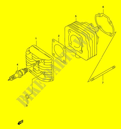 small resolution of cylinder model ay50 k3 k4 engine transmission ay50k1 p19 2001 katanasuzuki scooter 50 katana 2001 ay50k1