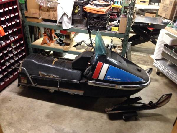 1973 amf harley-davidson snowmobile   bike-urious