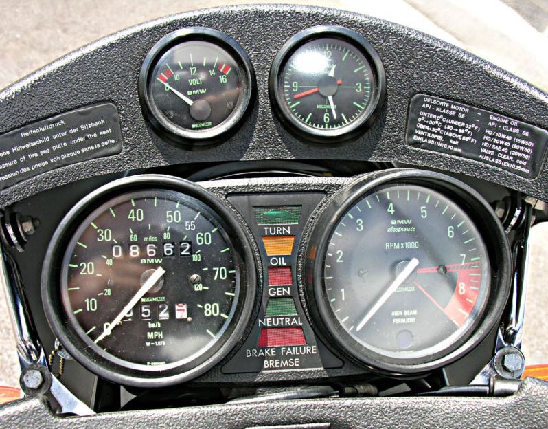 BMW R100S Exklusiv Sport - Gauges
