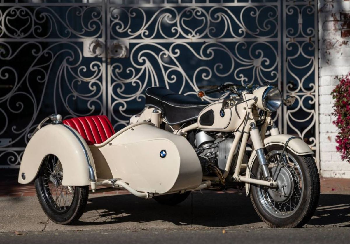 1961 BMW R50S with Steib LS200