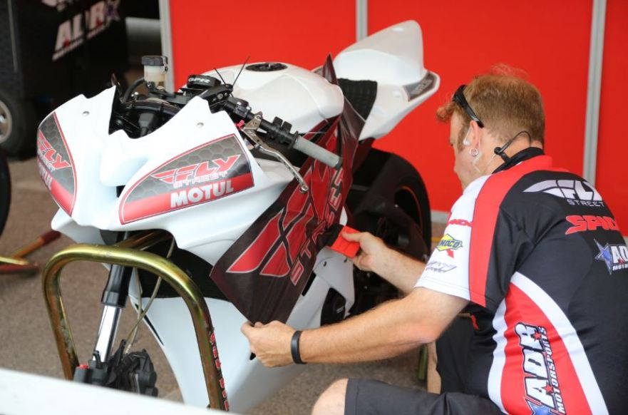 Bike-urious MotoGP Austin - Applying Livery