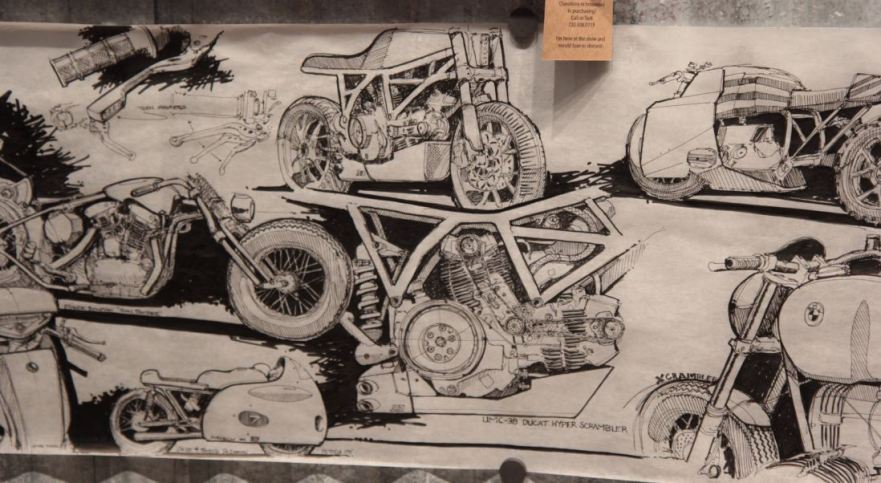 Bike-urious MotoGP Austin - DownShift Studio Mural Detail