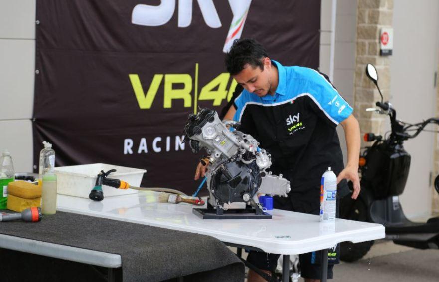 Bike-urious MotoGP Austin - Engine Cleaning