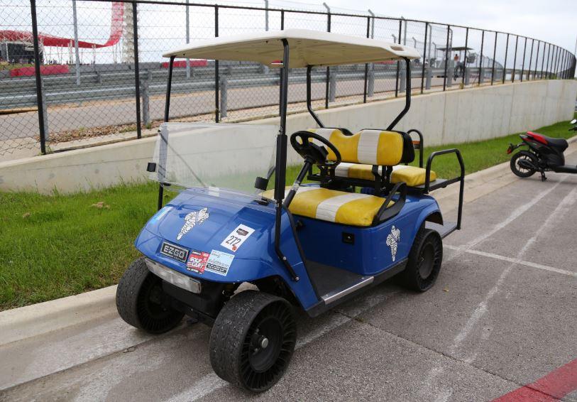 Bike-urious MotoGP Austin - Michelin Tweel Golf Cart