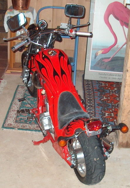 Budweiser Mini Chopper - Rear