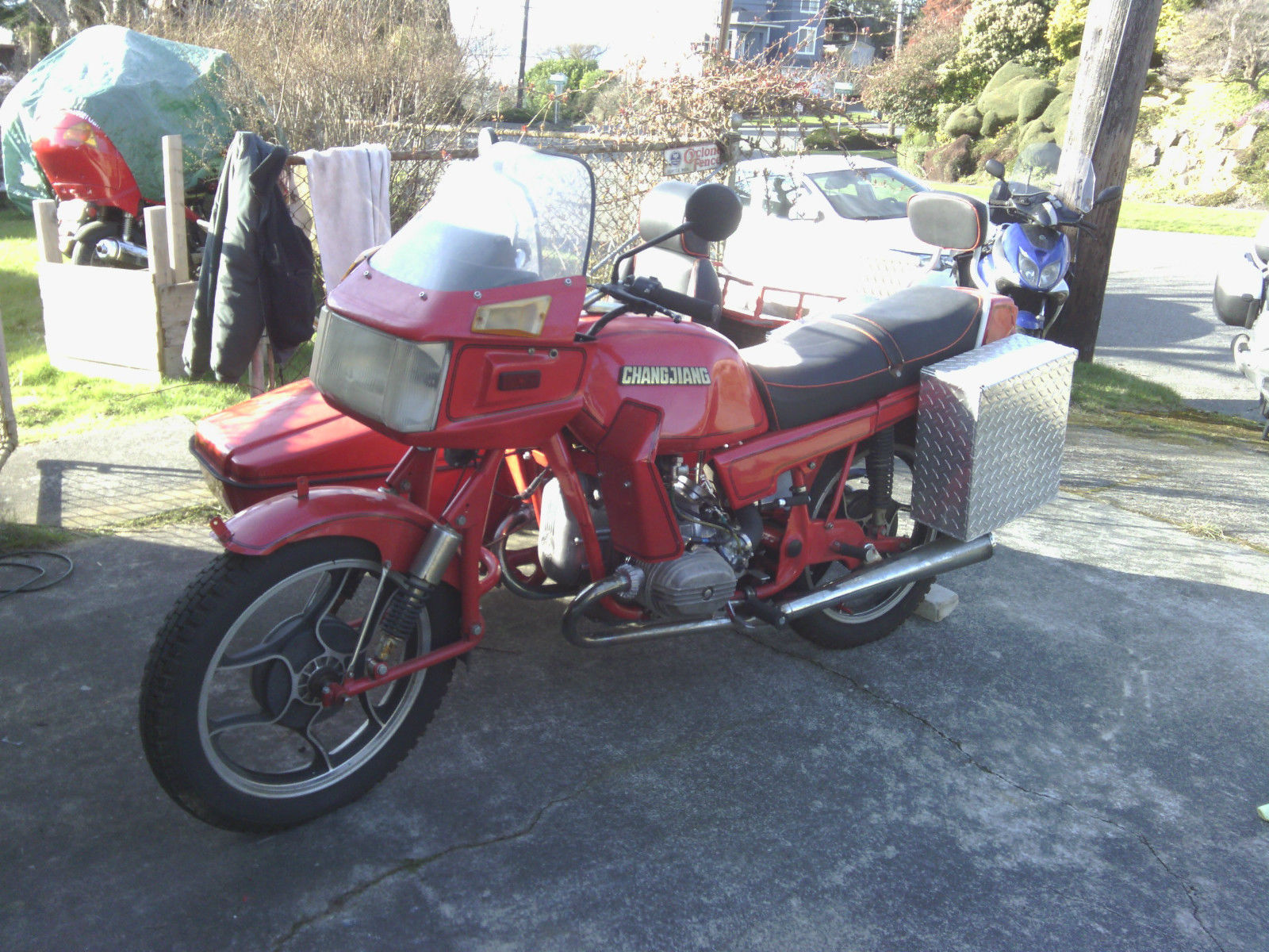 Chang Jiang CJ750 sidecar vintage military motorcycle motorbike T shirt
