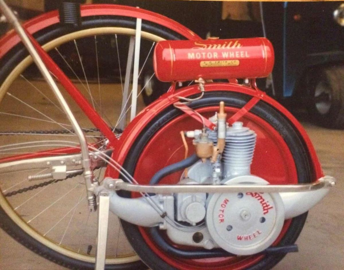 Ending Soon 1917 Colson Bicycle With Smith Motor Wheel Bike Urious