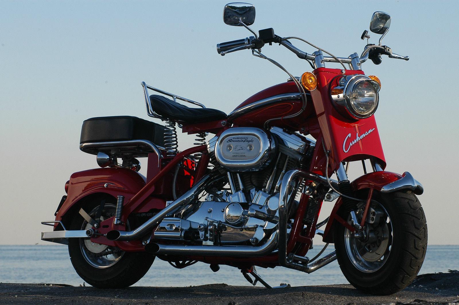 Little Bike Big Engine Custom 1961 Cushman Eagle Bike Urious
