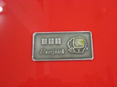 Ducati 750 F1 Montjuich - Plaque