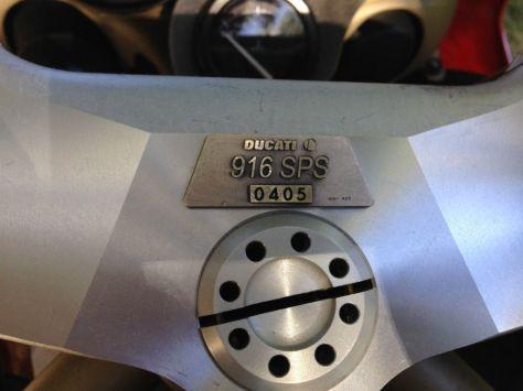 Ducati 916 SPS - Plaque