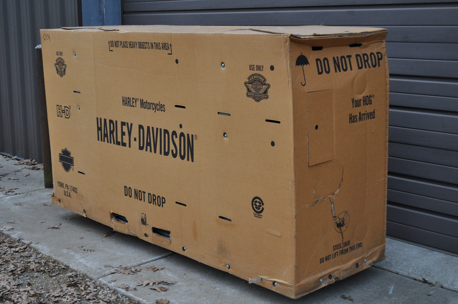 Harley Davidson Shipping Crate For Sale