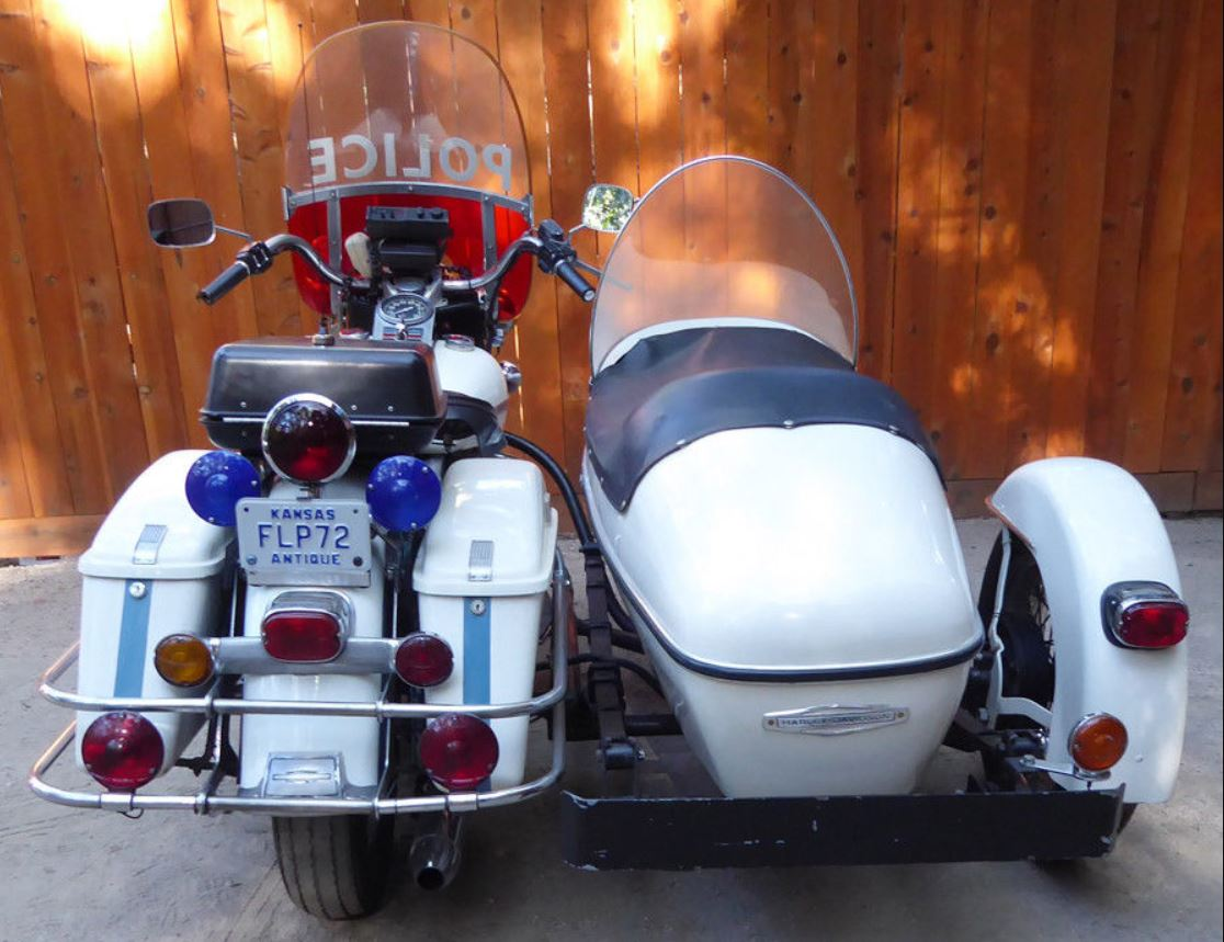 1972 Harley Davidson Flh Police Sidecar Bike Urious