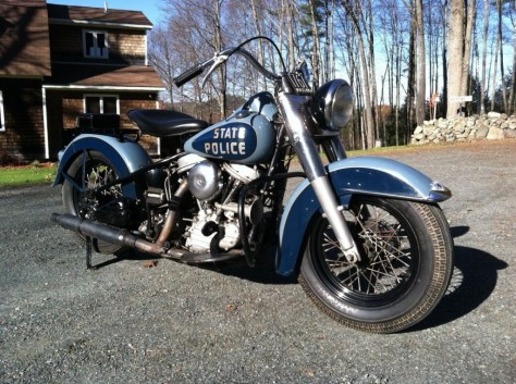 Harley-Davidson Panhead Police - Right Side