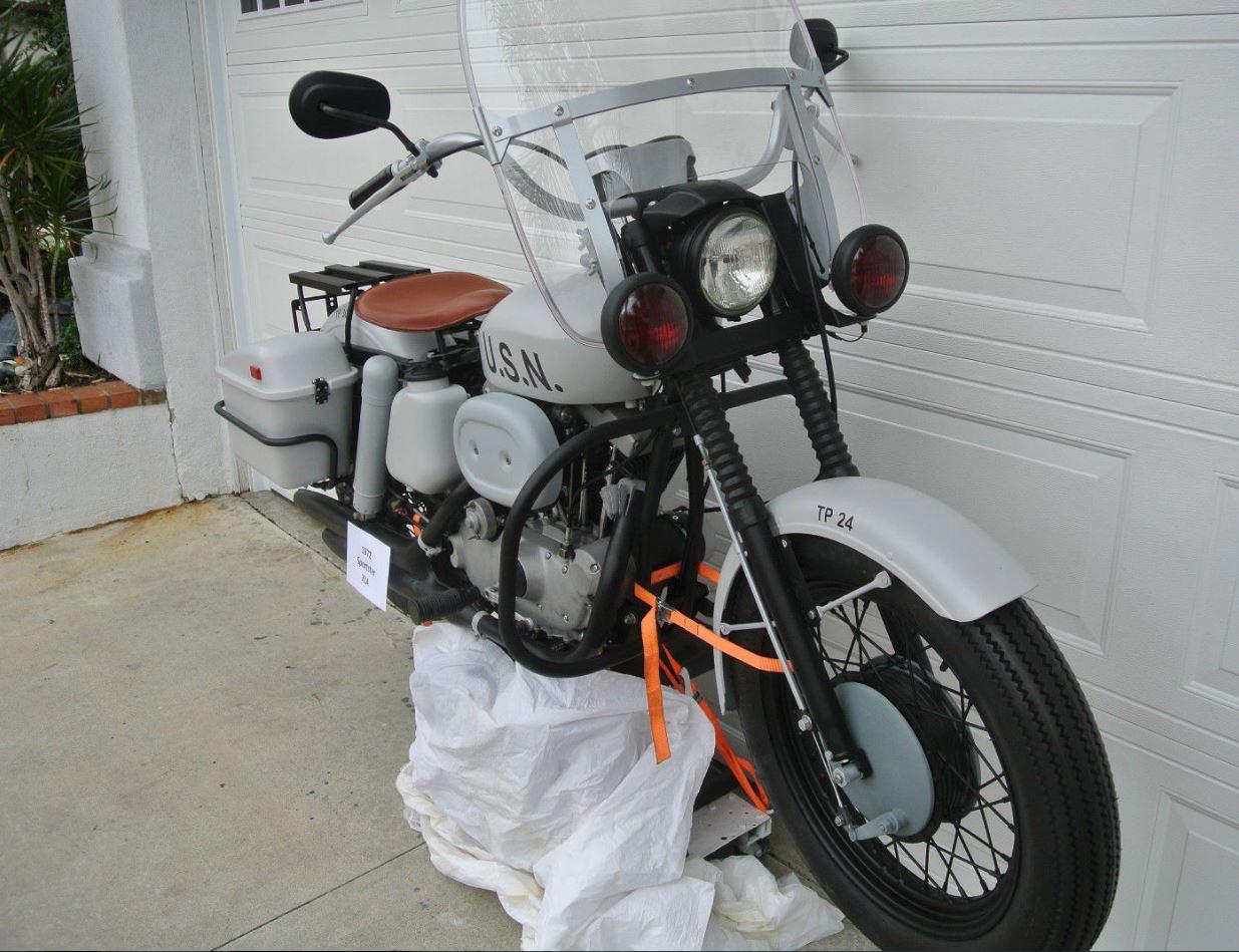Ex-Navy – 1972 Harley-Davidson Sportster XLA – Bike-urious
