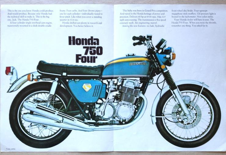 One of the many marketing materials Honda created using this exact bike for sale.
