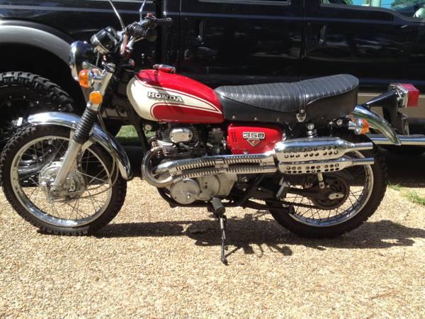 1972 Honda Cl350 Scrambler Bike Urious
