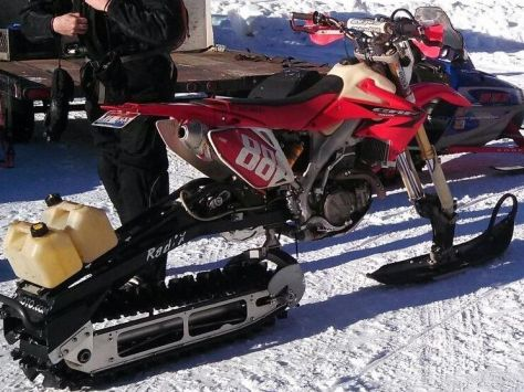 Honda CRF450X - Right Side - Snow