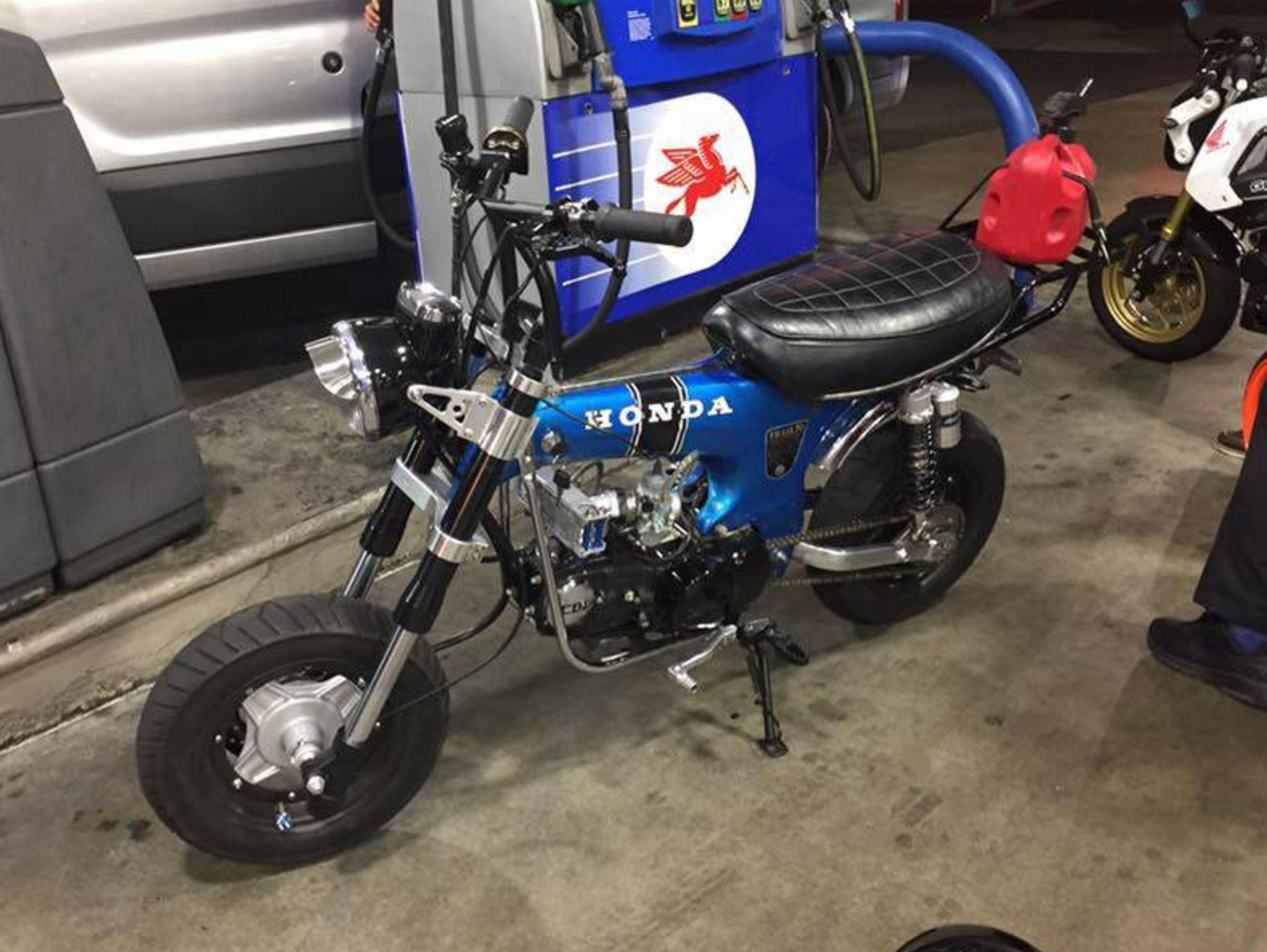 double  displacement  honda ct custom bike urious