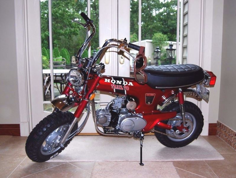 Restored 1972 honda ct70h bike urious built in january of 1972 this ct70h has been a display piece in the sellers house since it was completely restored highlights of the work include a sciox Image collections