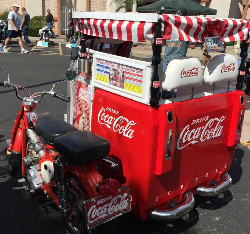Coca-Cola Sidecar – 1968 Honda CT90 – Bike-urious