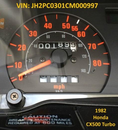 Honda CX500 Turbo - Mileage