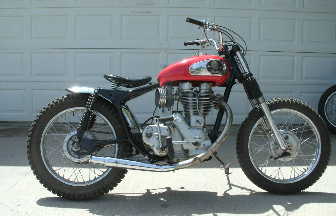 unexpected flat tracker – 1956 indian woodsman/tomahawk – bike-urious