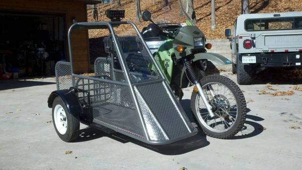 1994 Kawasaki KLR650 with Sidecar | Bike-urious