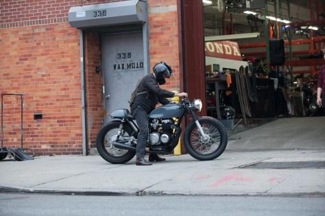 Kott Motorcycles Honda CB550 - Rider