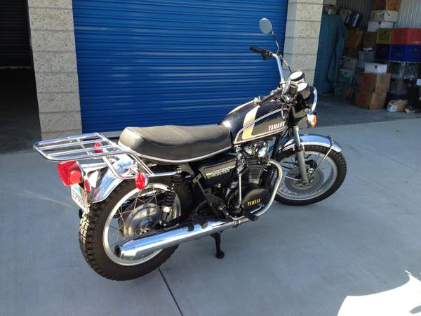 L. Ron Hubbard Owned - 1975 Yamaha XS650B - Right Rear