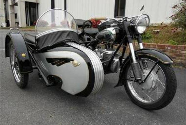 1964 MZ BK350 with Sidecar