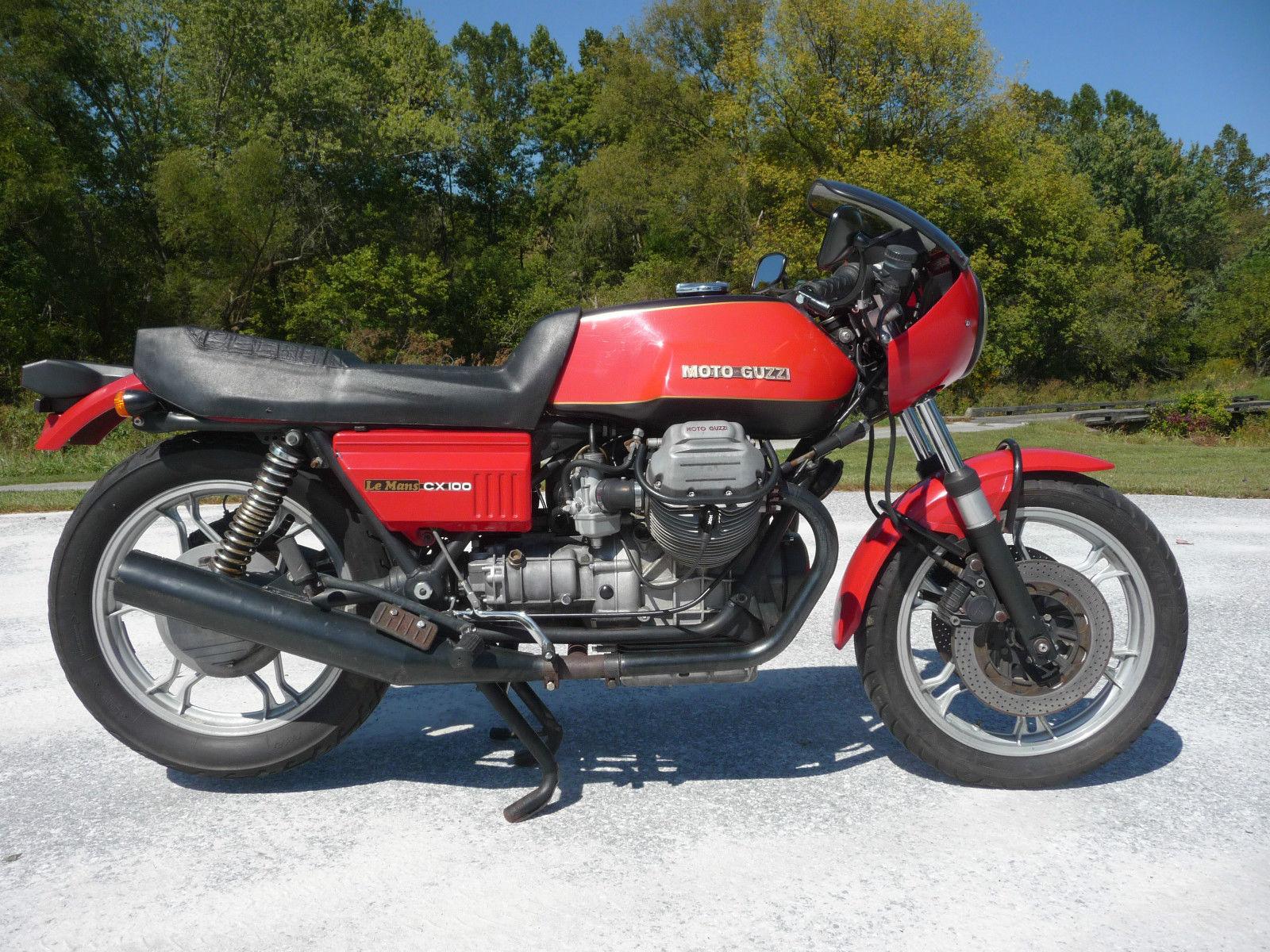 1981 moto guzzi cx100 lemans bike urious. Black Bedroom Furniture Sets. Home Design Ideas