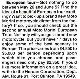 from the April 1986 issue of American Motorcyclist.