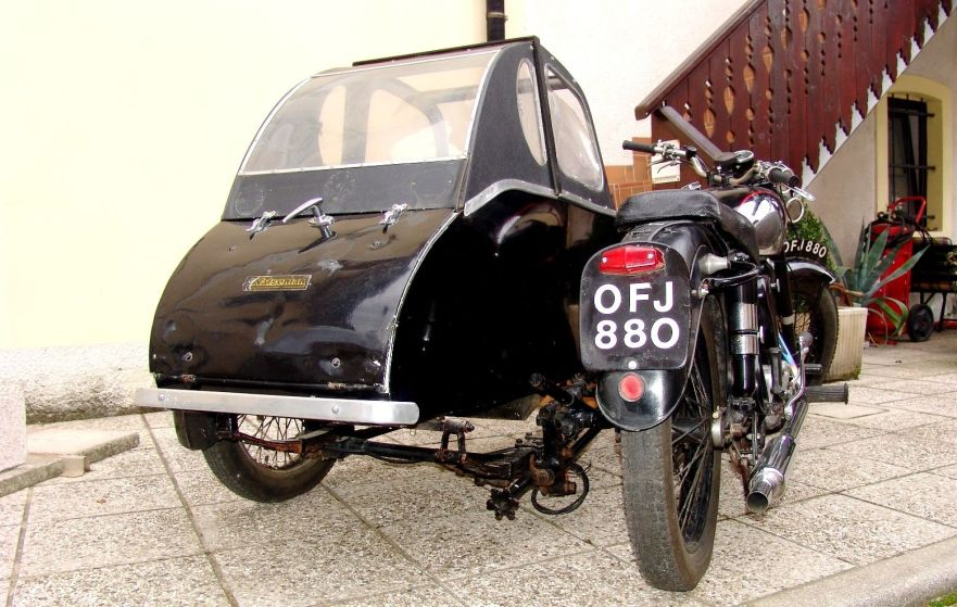 Panther Model 100 with Watsonian Sidecar - Rear