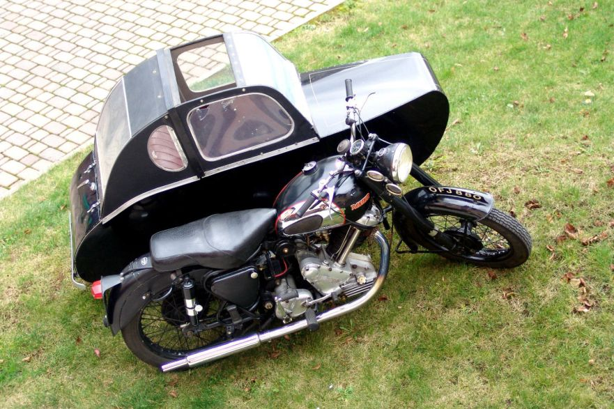 Panther Model 100 with Watsonian Sidecar - Top Right