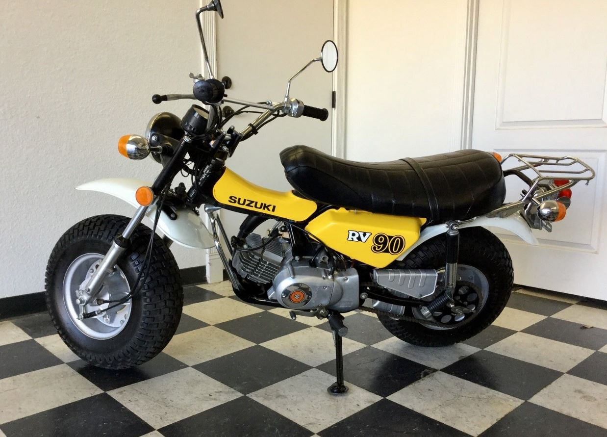 1976 Suzuki Rv90 Bike Urious Street Legal Dirt Bikes Sport This Is Plated And In California That Featured 10 Wide Tires According To The Ability Go Anywhere You Point It