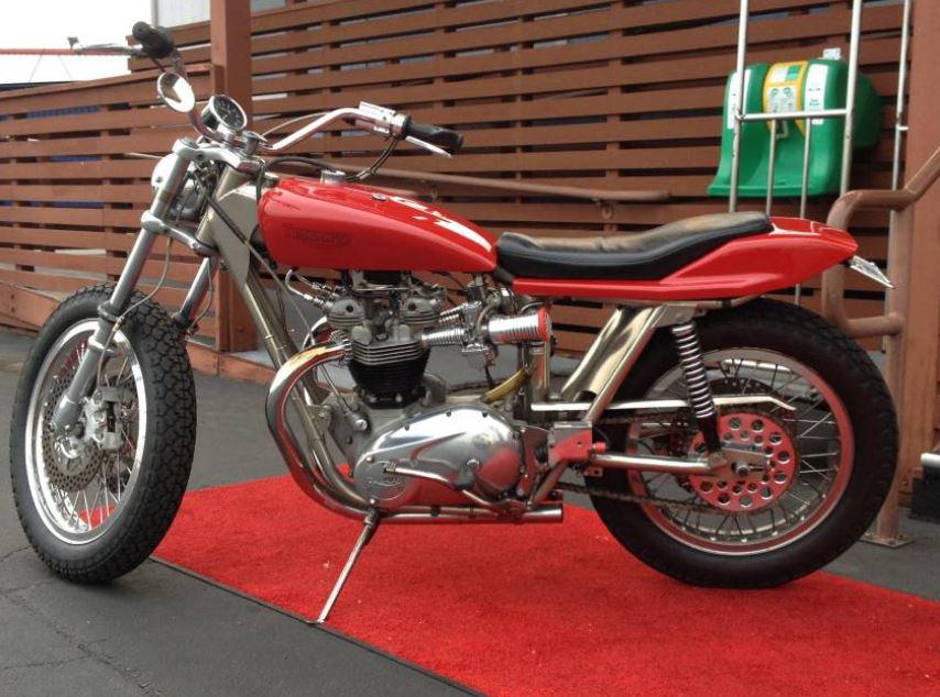 Trackmaster Framed 1970 Triumph Bonneville T120 Bike Urious