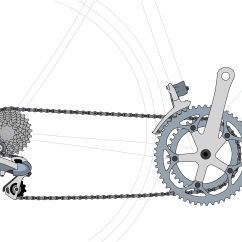 Gear Ratio Diagram Power Switch Wiring Bicycle Ratios Speeds Inches
