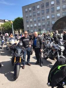 Motorrads revisor Stefan Älgne bor i Västerås och har hängt med på turen tidigare.