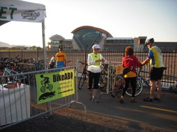 Our dedicated volunteers at the Balloon Fiesta Bike Valet